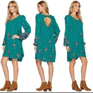 NEW NWT Free People Oxford Mini Dress XS Green